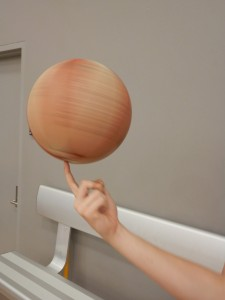 Byron Basketball spinning ball